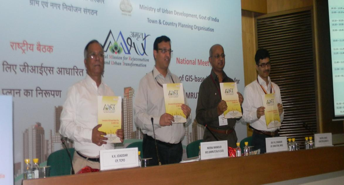 "Launching of ""Sub-Scheme on Formulation of GIS based Master Plans for AMRUT Cities"" by Joint Secretary cum Mission Director, Housing and Urban Affairs during 1st National Meet on 13th May 2016"